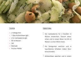Rezept: Milder Gurkensalat - Basenüberschüssige Ernährung