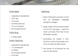 Rezept: Gebackener Apfel-Streuselkuchen - Basenüberschüssige Ernährung