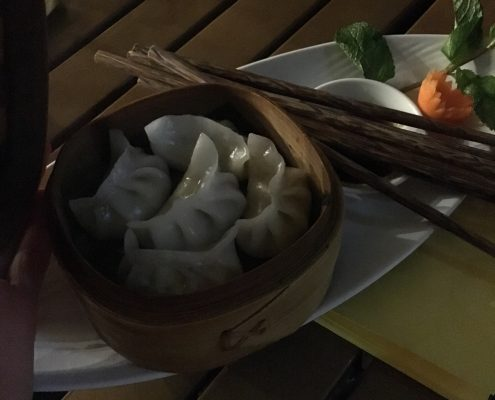 Berlin vegan - Miss Saigon - Vorspeise: gedünstete Soja-Gemüse Dumplings, Adresse: Skalitzer Straße 38 Ubahn: Görlitzer Bahnhof