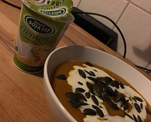 Greifswald vegan - selbstgemachte Kürbissuppe