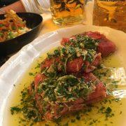 Rote Beete Maultaschen - Oktoberfest - vegane Wiesn