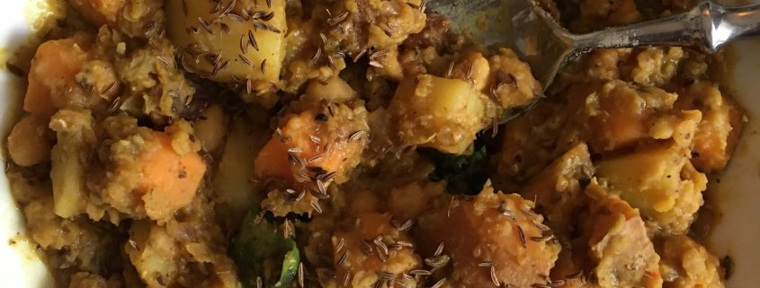 Rezept Kichererbsen-Kartoffel-Mango Curry