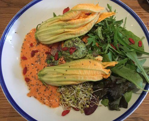 Barcelona - Flax & Kale - Raw Zucchini Blossoms