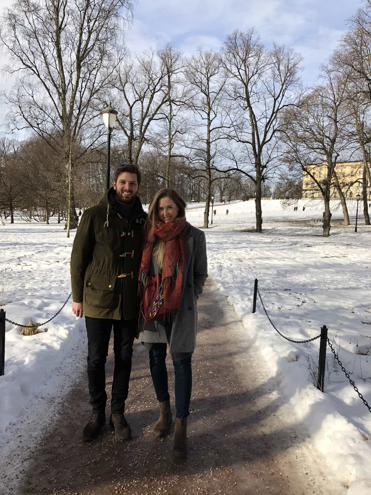 Oslo - Schlosspark im königlichen Schloss