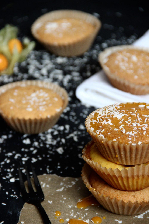 Kokos-Kurkuma Muffins: gluten- und zuckerfrei