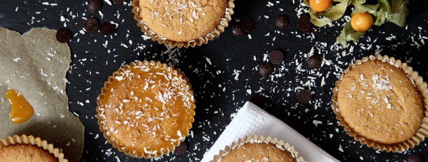 Kokos-Kurkuma Muffins - gluten- und zuckerfrei